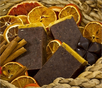 Orange, Chocolate And Cinnamon Natural Handmade Soap 95 gr